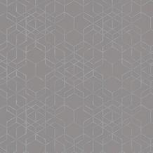 AS Création Mustertapete im skandinavischen Stil Björn Vliestapete grau metallic 348692 10,05 m x 0,53 m