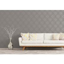 AS Création Mustertapete im skandinavischen Stil Björn Vliestapete grau metallic 10,05 m x 0,53 m