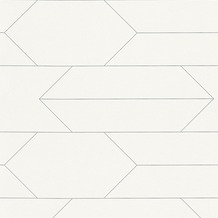 AS Création Mustertapete im skandinavischen Stil Björn Vliestapete metallic weiß 348681