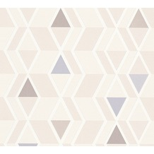 AS Création Mustertapete im skandinavischen Stil Happy Spring Vliestapete beige blau 343025