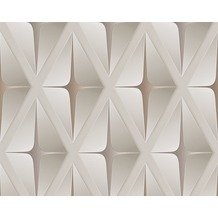 AS Création Mustertapete in 3D-Optik Move your Wall, Tapete, beige, braun 960411