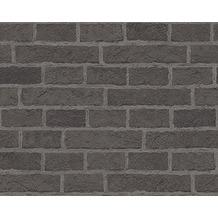 AS Création Mustertapete in Backsteinoptik Dekora Natur, Papiertapete, graubraun 779847 10,05 m x 0,53 m