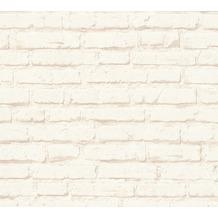 AS Création Mustertapete in Backsteinoptik Free Nature Vliestapete beige creme 343991 10,05 m x 0,53 m