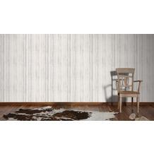 AS Création Mustertapete in Birkenoptik Ökotapete Scandinavian Style grau metallic weiß 10,05 m x 0,53 m