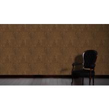 AS Création Mustertapete in Ethno Optik Saffiano braun metallic 10,05 m x 0,53 m