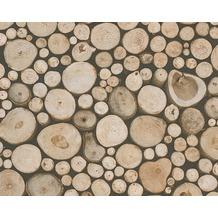 AS Création Mustertapete in Holzoptik Dekora Natur, Papiertapete, holzfarben 958361 10,05 m x 0,53 m