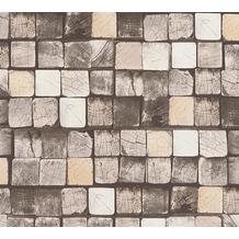 AS Création Mustertapete in Holzoptik Free Nature Vliestapete beige braun creme 344523 10,05 m x 0,53 m