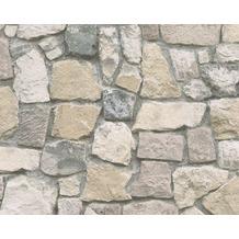 AS Création Mustertapete in Natursteinoptik Dekora Natur, Papiertapete, blaugrau, bunt 692412 10,05 m x 0,53 m