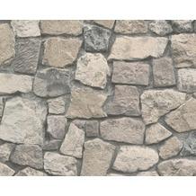 AS Création Mustertapete in Natursteinoptik Dekora Natur, Tapete, mahagonibraun 859532 10,05 m x 0,53 m