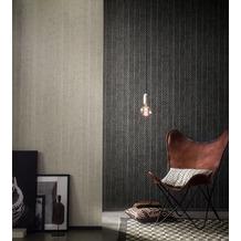 AS Création Mustertapete in Reptilienoptik Saffiano grau weiß 10,05 m x 0,53 m
