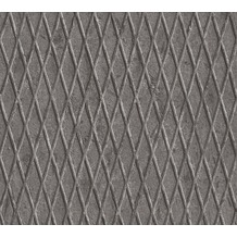 AS Création Mustertapete in Riffelblech Optik Happy Spring Vliestapete grau schwarz weiß 343461 10,05 m x 0,53 m