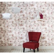 AS Création Mustertapete in skandinavischem Design Authentic Walls Papiertapete beige creme rosa 10,05 m x 0,53 m