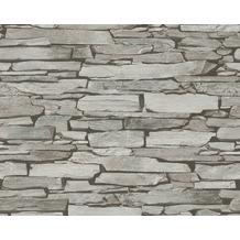 AS Création Mustertapete in Steinoptik Authentic Walls Tapete beige grau schwarz 943118 10,05 m x 0,53 m