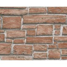 AS Création Mustertapete in Steinoptik Dekora Natur, Strukturprofiltapete, beigegrau 662118 10,05 m x 0,53 m