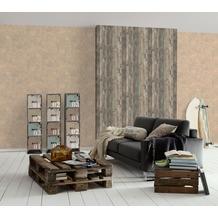 AS Création Mustertapete in Vintage-Holzoptik Decoworld, Tapete, blassbraun, schwarzgrau, holzfarben 10,05 m x 0,53 m