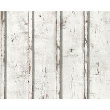 AS Création Mustertapete in Vintage-Holzoptik Dekora Natur, Tapete, signalweiß 953701 10,05 m x 0,53 m