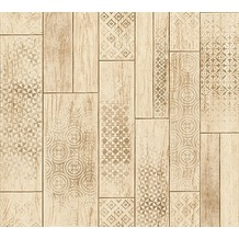 AS Création Mustertapete in Vintage Holz Optik Kitchen Dreams Tapete beige braun 330894 10,05 m x 0,53 m
