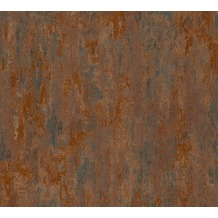AS Création Mustertapete in Vintage Optik Havanna Tapete braun metallic orange 326511 10,05 m x 0,53 m