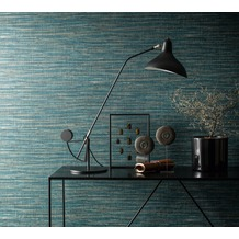 AS Création Mustertapete in Vintage Optik Saffiano beige blau 10,05 m x 0,53 m