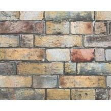 AS Création Mustertapete in Vintage Steinoptik Authentic Walls Tapete braun gelb grau 302561 10,05 m x 0,53 m