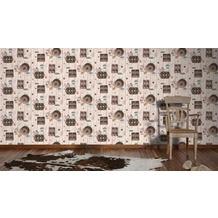 AS Création Mustertapete Kitchen Dreams Tapete braun bunt schwarz 10,05 m x 0,53 m