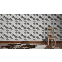 AS Création Mustertapete Kitchen Dreams Tapete grau metallic schwarz 10,05 m x 0,53 m