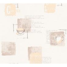 AS Création Mustertapete Kitchen Dreams Vliestapete beige braun creme 327331 10,05 m x 0,53 m