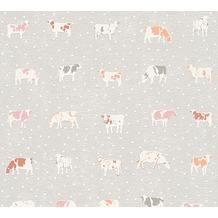 AS Création Mustertapete Kitchen Dreams Vliestapete grau orange rot 324593 10,05 m x 0,53 m