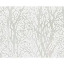 AS Création Mustertapete Life 3, Vliestapete, grün, metallic, weiß 300942 10,05 m x 0,53 m