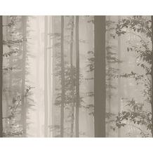 AS Création Mustertapete Little Forest, Vliestapete, beige, braun 300602 10,05 m x 0,53 m