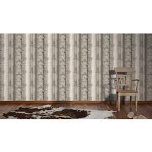 AS Création Mustertapete Little Forest, Vliestapete, beige, braun 10,05 m x 0,53 m