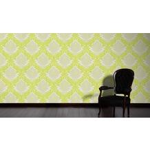 AS Création Mustertapete mit Glitter Bling Bling, Vliestapete, gelb, grün, weiß 10,05 m x 0,53 m