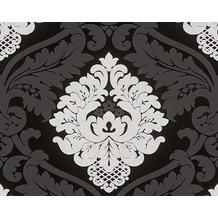 AS Création Mustertapete mit Glitter Bling Bling, Vliestapete, schwarz, weiß 313959 10,05 m x 0,53 m