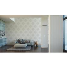 AS Création Mustertapete mit Glitter Bling Bling, Vliestapete, weiß 10,05 m x 0,53 m