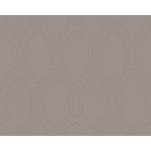 AS Création Mustertapete mit Glitter Spot 3 Vliestapete grau metallic 305992 10,05 m x 0,53 m