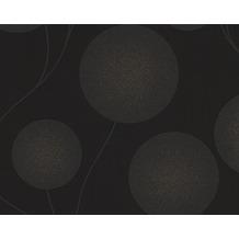 AS Création Mustertapete mit Glitter Spot 3 Vliestapete metallic schwarz 305473 10,05 m x 0,53 m