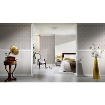 AS Création Mustertapete New Classics, Tapete, braun, creme, metallic 10,05 m x 0,53 m