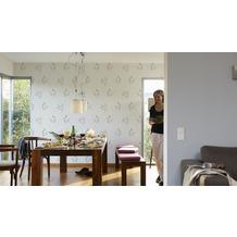 AS Création Mustertapete Paloma, Vliestapete, beige, braun, metallic 10,05 m x 0,53 m