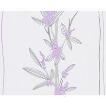 AS Création Mustertapete Paloma, Vliestapete, creme, grau, violett 301372 10,05 m x 0,53 m
