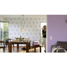 AS Création Mustertapete Paloma, Vliestapete, creme, grau, violett 10,05 m x 0,53 m