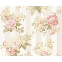 AS Création Mustertapete Romantica 3 Tapete creme grau rosa 304461 10,05 m x 0,53 m