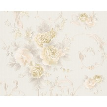 AS Création Mustertapete Romantica 3 Tapete creme grün rosa 306471 10,05 m x 0,53 m