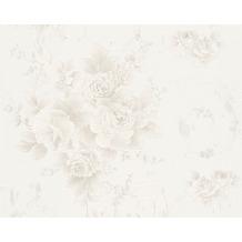 AS Création Mustertapete Romantica 3 Tapete grau grün weiß 306472 10,05 m x 0,53 m