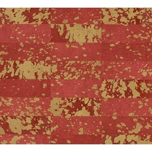 AS Création Mustertapete Saffiano metallic rot 340621 10,05 m x 0,53 m