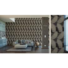 AS Création Mustertapete San Francisco, Strukturprofiltapete, braun, metallic, schwarz 10,05 m x 0,53 m