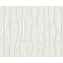 AS Création Mustertapete San Francisco, Strukturprofiltapete, creme, metallic, weiß 958791 10,05 m x 0,53 m