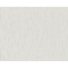AS Création Mustertapete San Francisco, Strukturprofiltapete, metallic, weiß 307354 10,05 m x 0,53 m