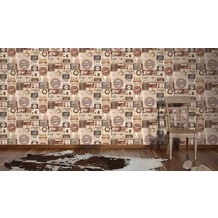AS Création Mustertapete Simply Decor Papiertapete beige braun creme 10,05 m x 0,53 m