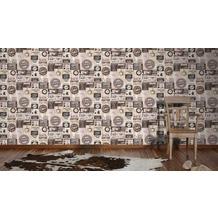 AS Création Mustertapete Simply Decor Papiertapete braun creme schwarz 10,05 m x 0,53 m
