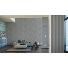 AS Création Mustertapete Smooth, Vliestapete, grau, schwarz 10,05 m x 0,53 m